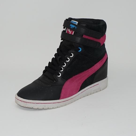 549a80bb8652 Puma Sky Wedge Sneakers Black Hot Pink 9. M 5b762ff3df03072ad3c5c432